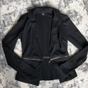 Jackets & Blazers - Adjustable Zipper Black Blazer